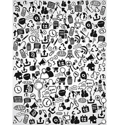 Doodle web icon background vector