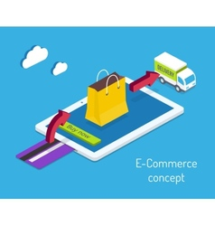 E-commerce or internet shopping concept vector