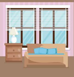 Elegant living room scene vector