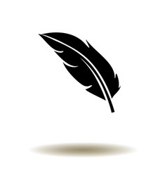 feather silhouette vector image vector image