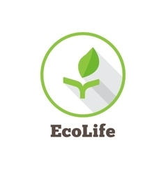 flat minimalistic green eco logo vector image