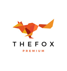 fox geometric low poly logo icon vector image