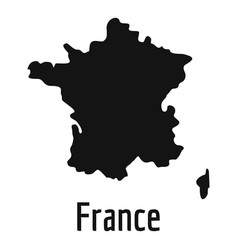 France map in black simple vector
