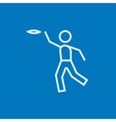 Frisbee line icon vector