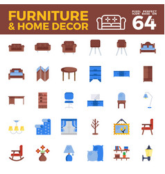 furniture and home decor flat icon vector image