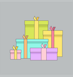 gift boxes presents surprises vector image