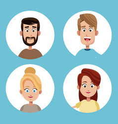 Group mom and dad family vector