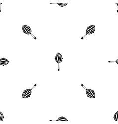 Hand mirror pattern seamless black vector