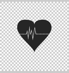 heart rate icon isolated on transparent background vector image