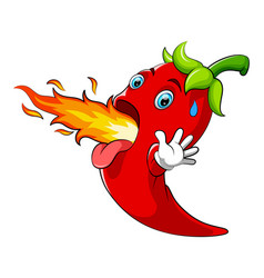 Hot chili cartoon character vector