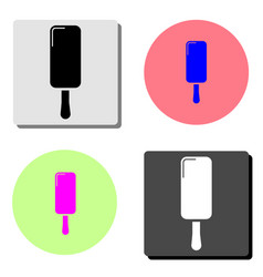 icecream dessert flat icon vector image