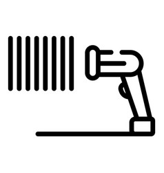 Identification barcode scanner icon outline style vector