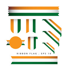 India ribbon flag template design vector