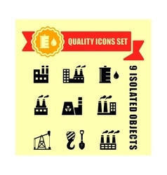 industrial set with red tape vector image
