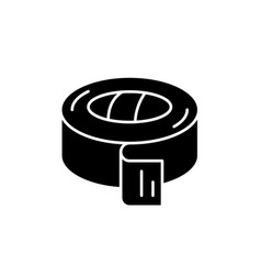 Insulating tape black icon sign on vector