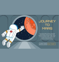 Journey to mars background vector