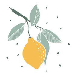 Lemon doodle sketch style vector