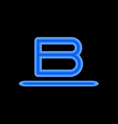 letter b is a blue color of different shades vector image