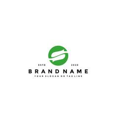 Letter s leaf logo design vector