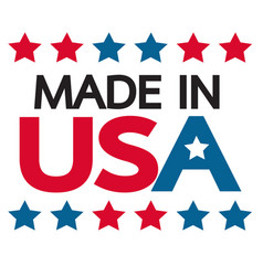 made in usa icon vector image