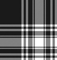 Menzies tartan black kilt fabric texture seamless vector