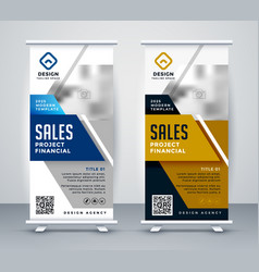 Modern standee rollup banner for marketing vector
