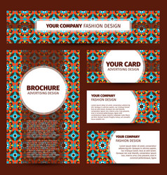 moroccan mosaic pattern corporate identity design vector image