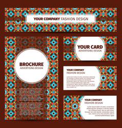 Moroccan mosaic pattern corporate identity design vector