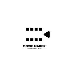 Movie maker logo template icon element vector