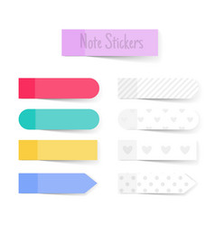 note paper sticks vector image