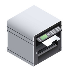 office printer icon isometric style vector image