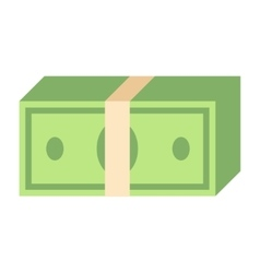 Paper dollar stack vector