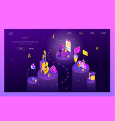 Party and celebration - modern isometric vector