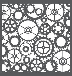 pattern silhouette cut gears vector image vector image