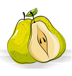 Pear fresh and healthy fruit vector