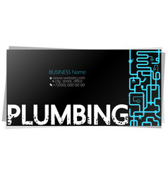 Plumbing service and repair business card concept vector