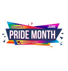 Pride month banner design vector