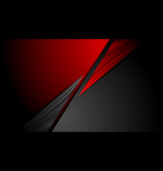 red black contrast abstract corporate background vector image