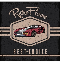 Retro sport car old vintage grunge poster vector