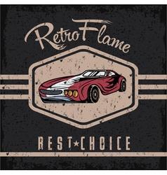 Retro sport car old vintage grunge poster vector