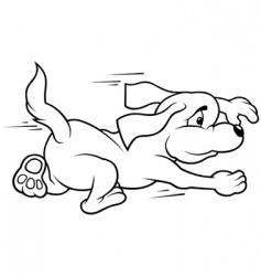 Running dog vector