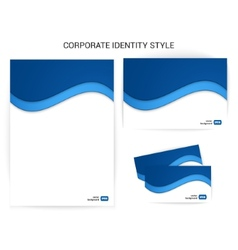 Sample of stylish corporate identity style vector image vector image