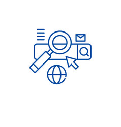 searching line icon concept searching flat vector image