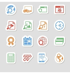 Seo Icons as Labes Vol 3 vector
