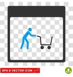 Shopping Cart Calendar Page Eps Icon vector image