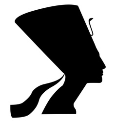 silhouette of Nefertiti vector image