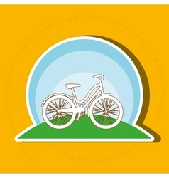 sport cycling design vector image
