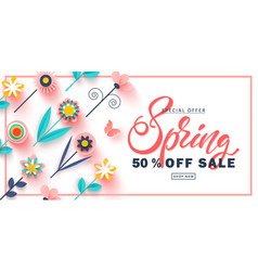 spring sale banner beautiful background vector image