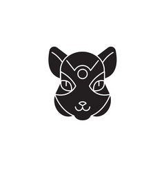 squirrel head black concept icon squirrel vector image