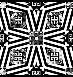 Striped geometric greek seamless pattern vector